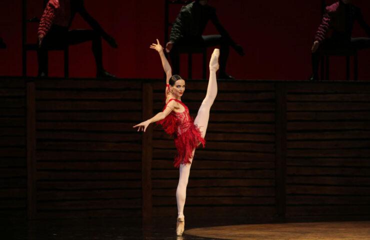 Диана Вишнёва в «Кармен-сюите». Фото Наташи Разиной © Мариинский театр
